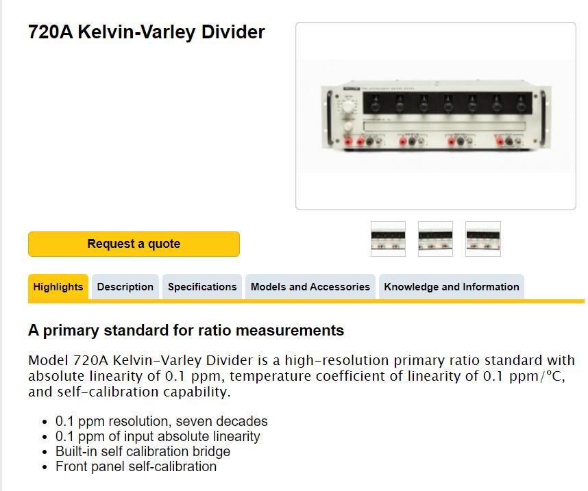 Fluke 720A kelvin-Varley Divider
